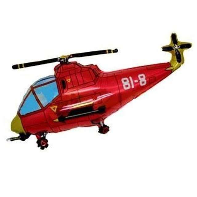 """Balon foliowy """"Helikopter"""", czerwony, Flexmetal, 24"""", SHP"""