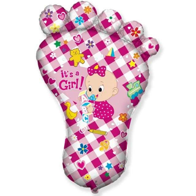 Balon foliowy Baby Shower - Stopa Dziewczynki FLEXMETAL 24 SHP