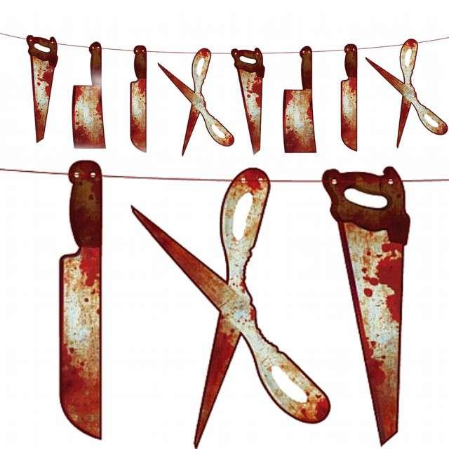"Baner ""Krwawe narzędzia - Halloween"", Godan, 200 cm"