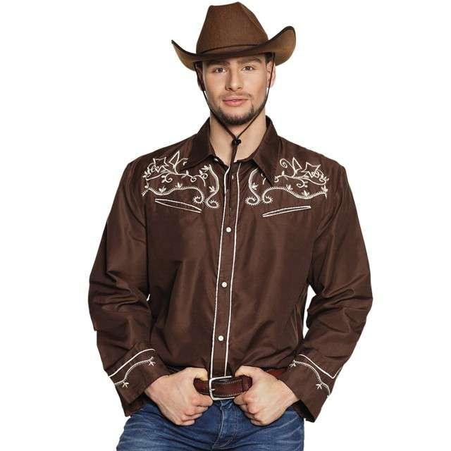 "Koszula ""Kowbojska Elegancka"", brązowa, Boland, rozm. M"