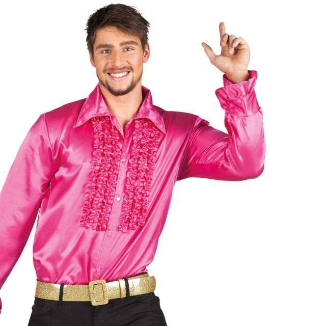 Strój dla dorosłych Koszula retro z żabotem różowa Boland rozm. 50-52