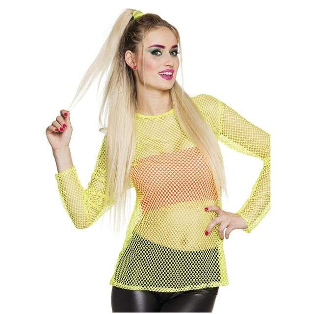 """Koszulka """"Disco Kabaretkowa"""", żółta neonowa, Boland, rozm. M/L"""