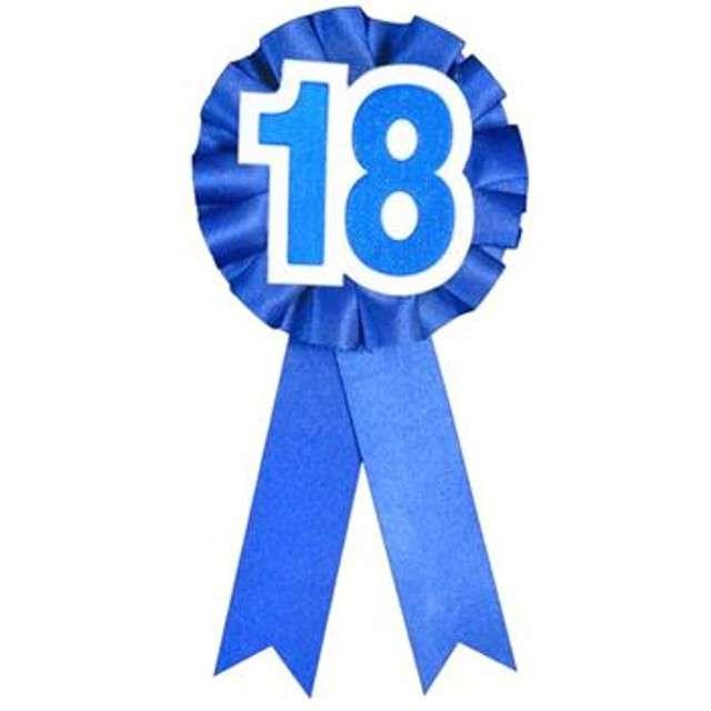 """Kotylion """"18 Urodziny"""", niebieski, GODAN"""