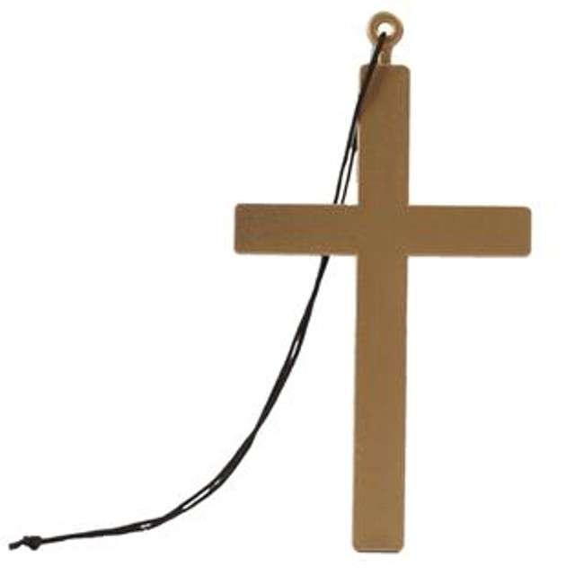 """Naszyjnik """"Krzyż Księdza"""", brązowy, Boland, 24 cm"""