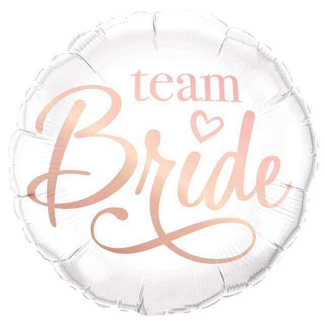 "Balon foliowy ""Team Bride"", QUALATEX, 18"" RND"