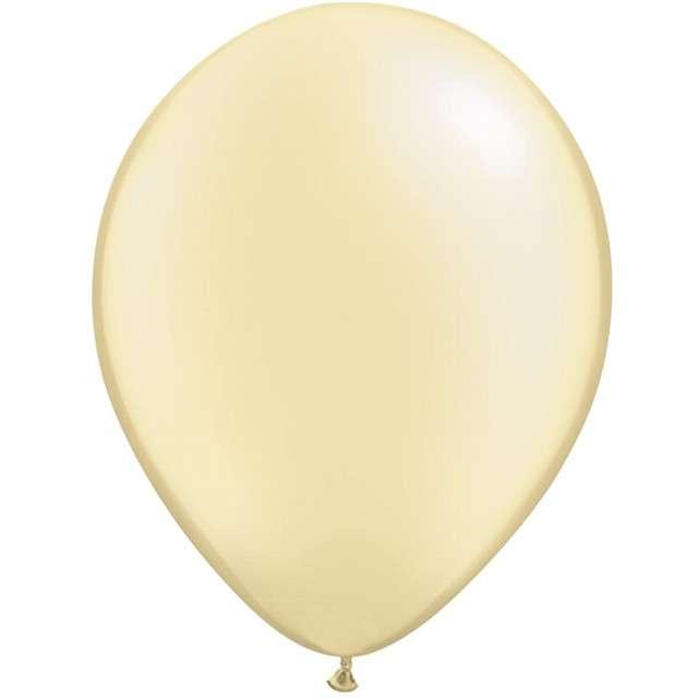 """Balony """"Classic"""", kość słoniowa metalik, QUALATEX, 16"""", 50 szt"""