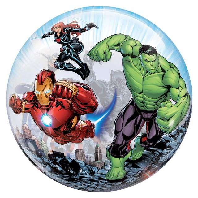 "Balon foliowy ""Avengers"", Qualatex Bubbles, 22"" ORB"