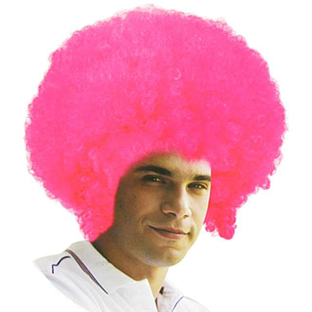 "Peruka party ""Mega Afro"", różowa, Godan"