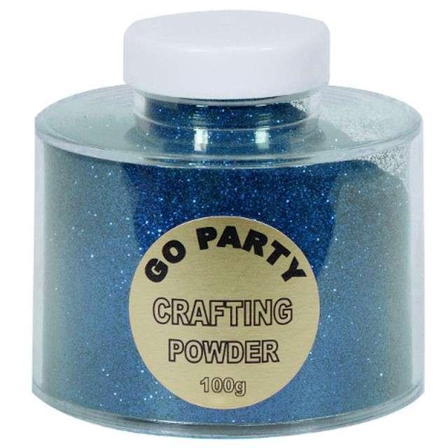 """Brokat sypki """"Premium Jar"""", szafirowy niebieski, Qualatex, 100 g"""