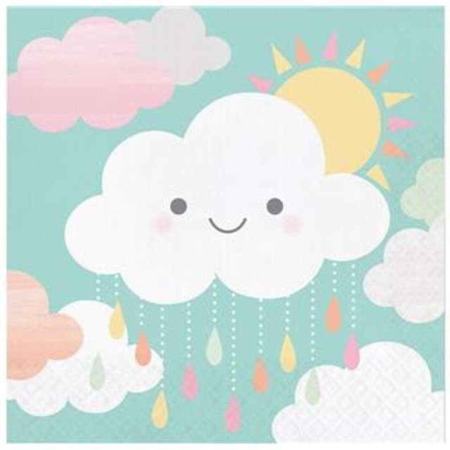 "Serwetki ""Uśmiechnięta chmurka"", CreativeConverting, 33 cm, 16 szt"