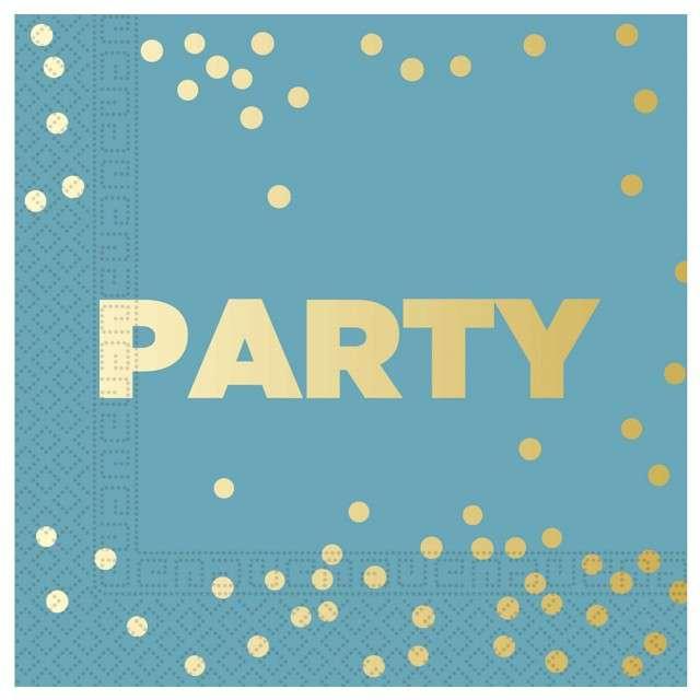 """Serwetki """"Party Premium"""", turkusowe, Procos, 33 cm, 16 szt"""