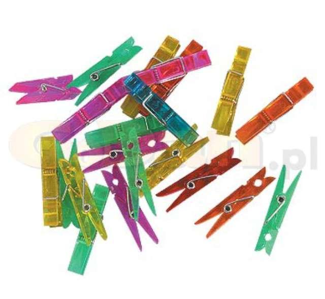 """Klamerki plastikowe """"Kolorowy MIX"""", 3,4 cm, Godan, 144 szt"""