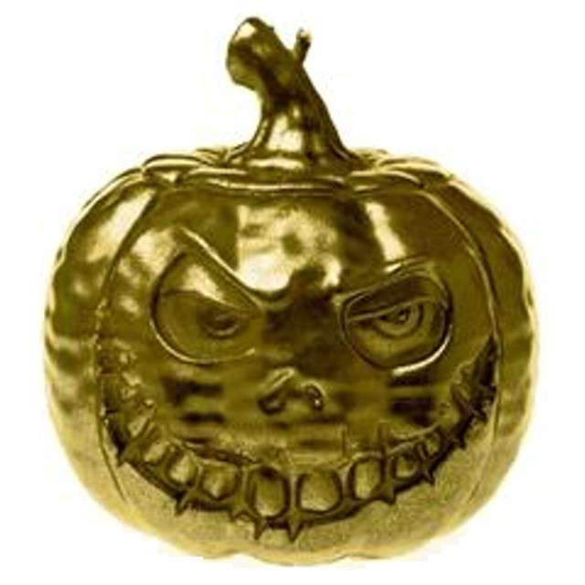 """Świeca """"Dynia Halloweenowa"""", złota, Candellana, 9,5 mm"""