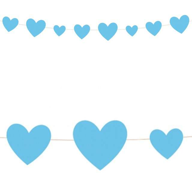 Girlanda Serce - Baby Shower błękitne Unique 274 m