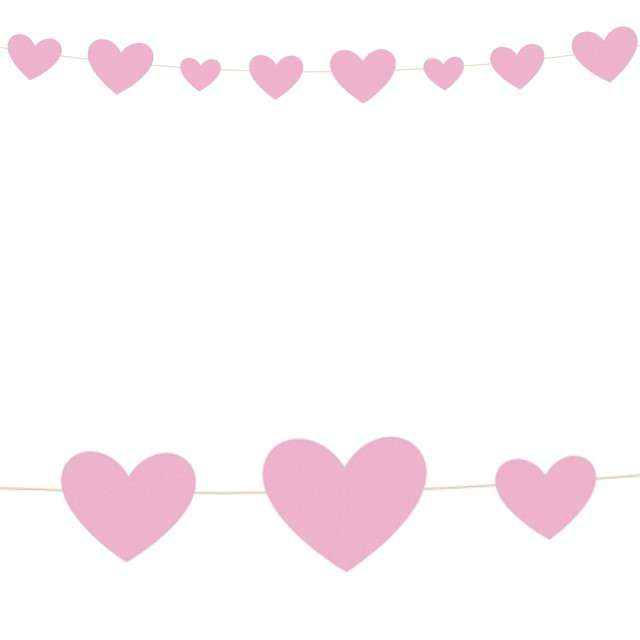 Girlanda Serce - Baby Shower różowe Unique 274 m