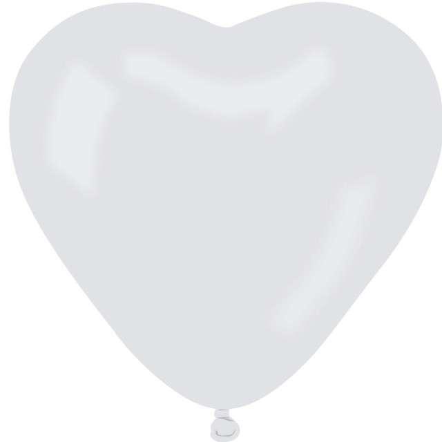 Balon Serce Pastel białe Gemar 11 100szt HRT