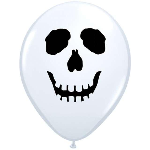 Balony Czaszka Qualatex 5 100szt.