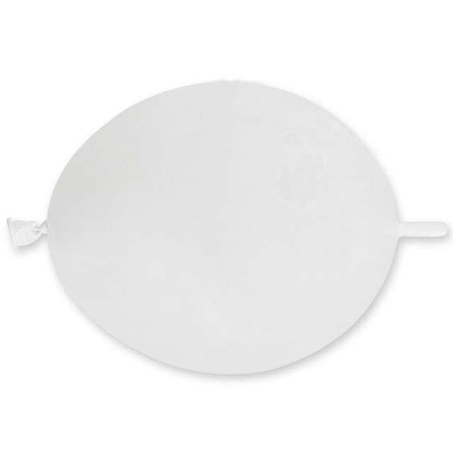 Balony Metaliczne do girland biały GEMAR 6 100szt