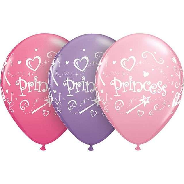 "Balony ""Princess"", błękitne, Qualatex, 11"", 25 szt"