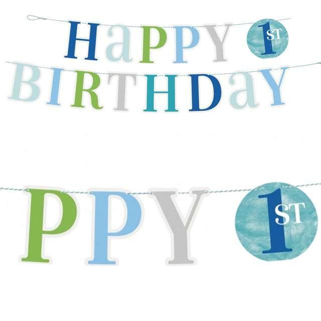 Baner Happy Birthday - Roczek zielony mix Godan 182cm
