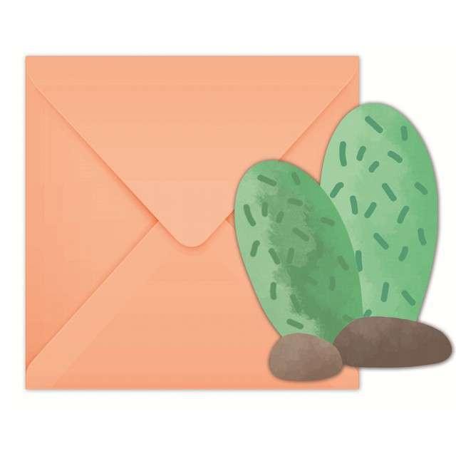 """Zaproszenia z kopertą """"Kaktusy"""", Procos, 6 szt"""