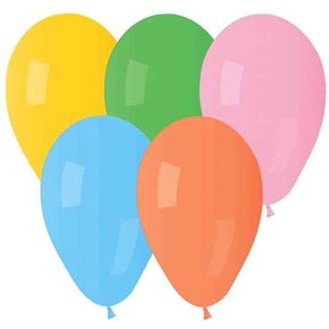 """Balony """"Classic"""", mix pastel, Godan, 8"""", 15 szt"""