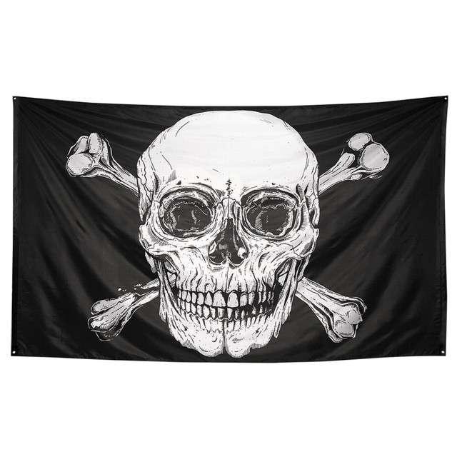Flaga Piracka Czaszka XXL Boland 200 x 330cm