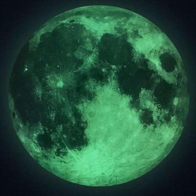 """Naklejka """"Księżyc"""", fluorescencyjna, Godan"""