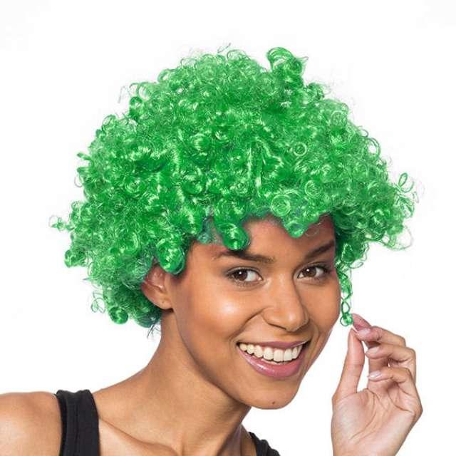 "Peruka party ""Afro"", zielona, GadgetMaster"