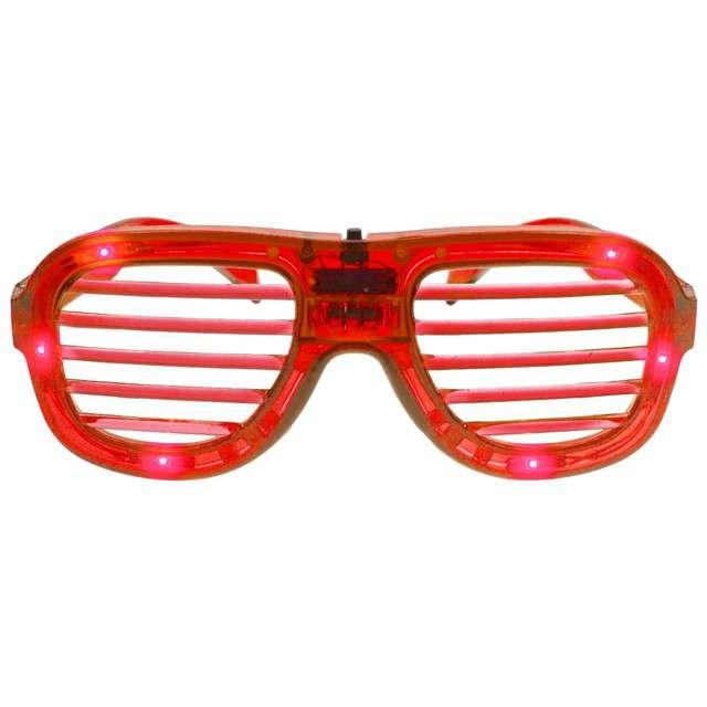Okulary party Świecące Disco czerwone Godan