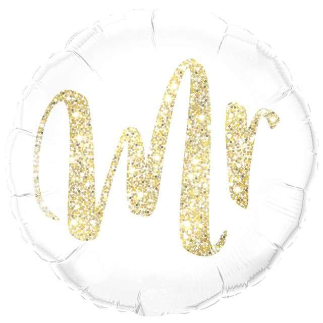 """Balon foliowy """"Mr"""", QUALATEX, 18"""" RND"""