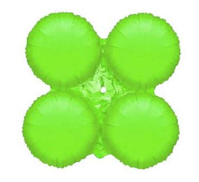 """Balon foliowy """"Koniczyna"""", zielony, Godan, 24"""", SHP"""