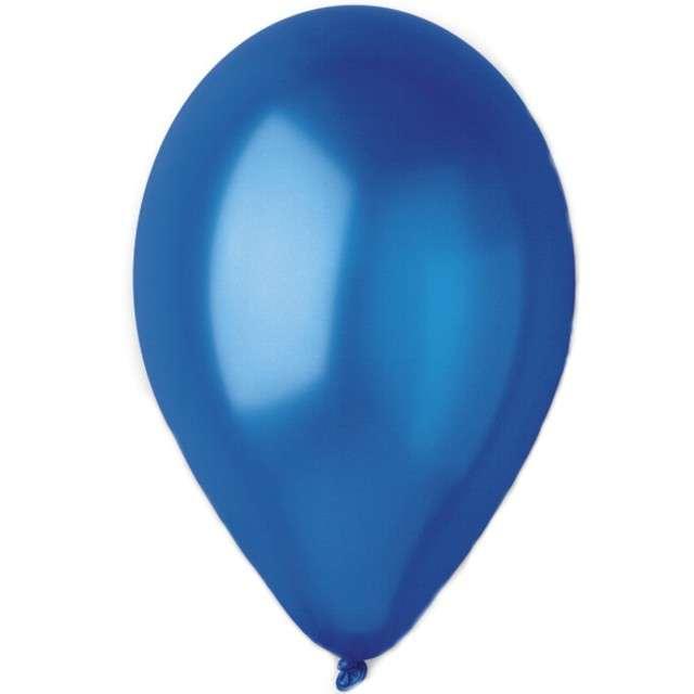 "Balony ""Metallic"", granatowe, Gemar, 12"", 100 szt"