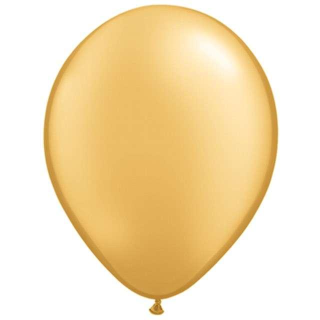 """Balony """"Classic"""", złoty metalik, Qualatex, 11"""", 25 szt"""