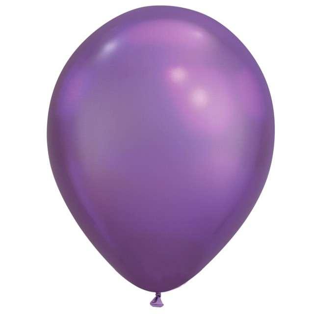"""Balony """"Chromowane"""", fioletowy, Qualatex, 11"""", 100 szt"""
