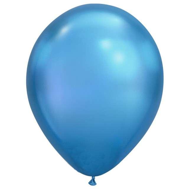 """Balony """"Chromowane"""", niebieskie, Qualatex, 11"""", 100 szt"""