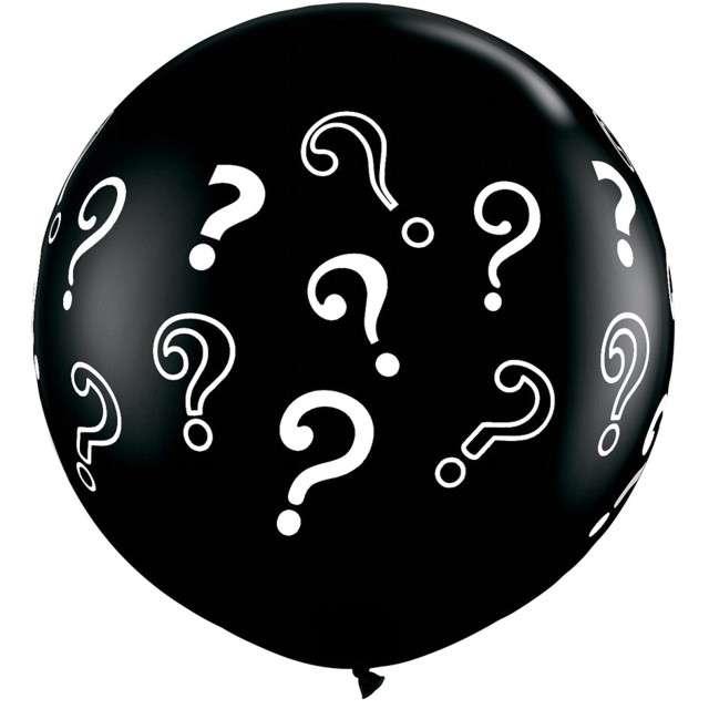 Balon Znaki Zapytania czarne Qualatex 36 cali 2szt
