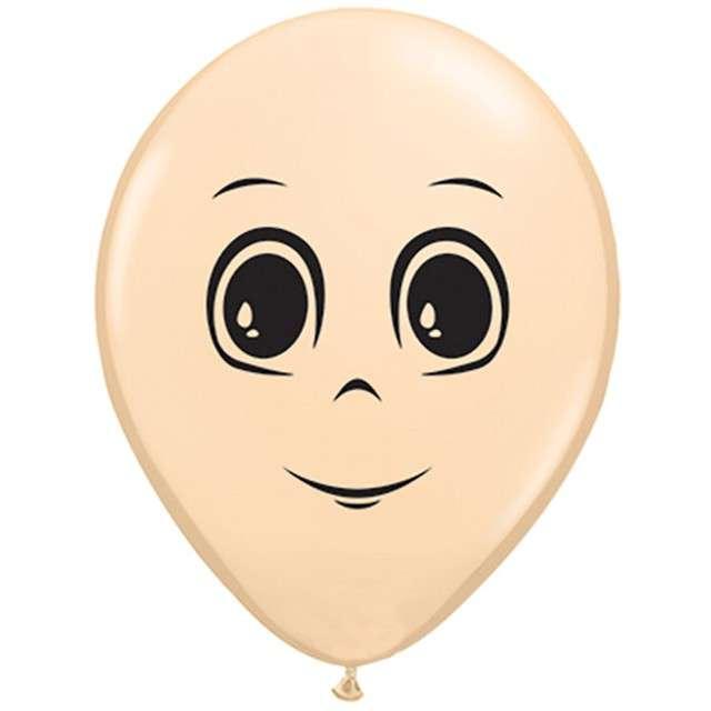 """Balony """"Twarz męska"""", Qualatex, 5"""", 100 szt."""