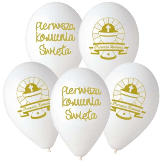 Balony Premium Pierwsza Komunia Gemar 12 5szt.