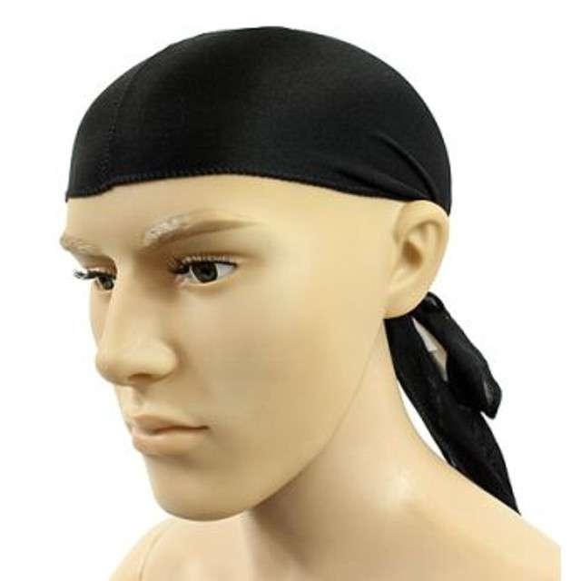 "Chusta ""HIP-HOP"" na głowę, czarna, PartyDeco"
