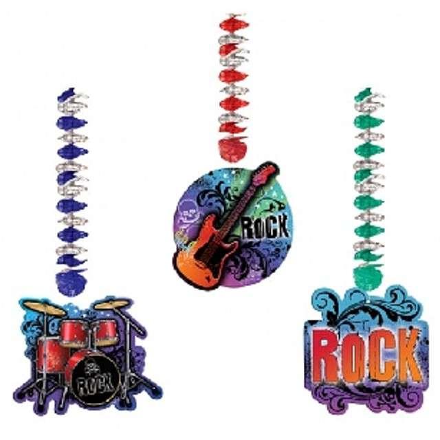 """Dekoracja wisząca """"Rock Star"""", Amscan, 1,4 m, 3 szt"""