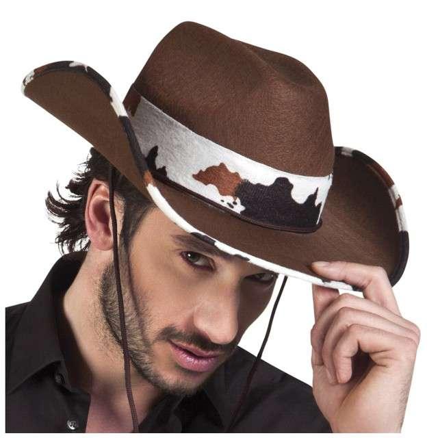 Kapelusz Kowboj w Łaty brązowy Boland