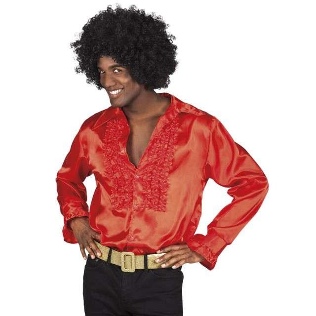 Strój dla dorosłych Koszula retro z żabotem czerwona Boland rozm. 46-48