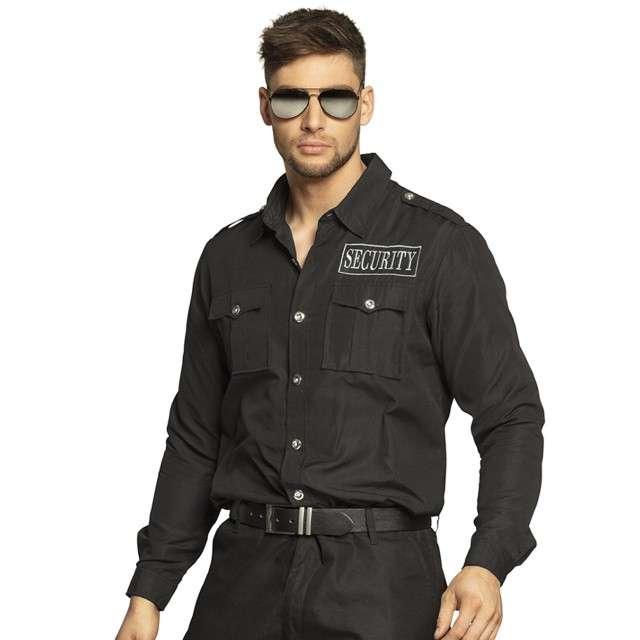 Strój dla dorosłych Koszula Ochrona - Security czarna Boland rozm. 50/52