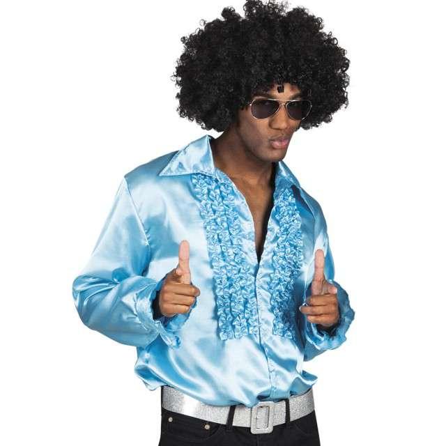 Strój dla dorosłych Koszula retro z żabotem błękitna Boland rozm. 46-48