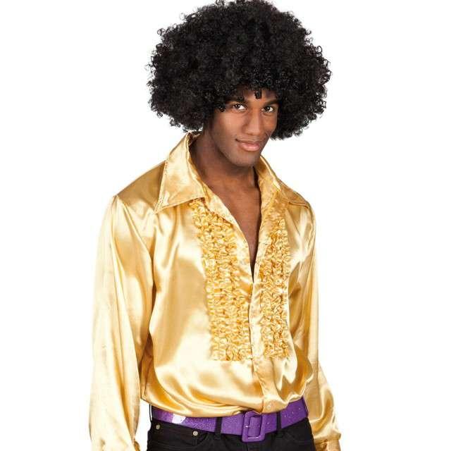 Strój dla dorosłych Koszula retro z żabotem złota Boland rozm. 46-48