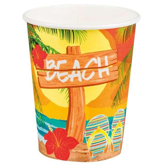 """Kubeczki papierowe """"Hawajska Plaża"""", Boland, 250 ml, 6 szt"""