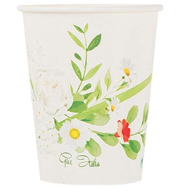 Kubeczki papierowe Powiew Wiosny Givi Italia 200 ml 8szt