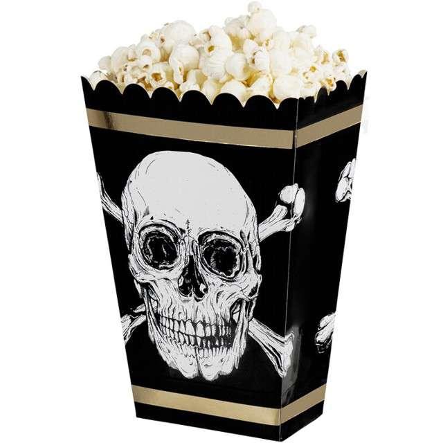 "Pudełka na popcorn ""Czaszka Pirata"", Boland, 4 szt"