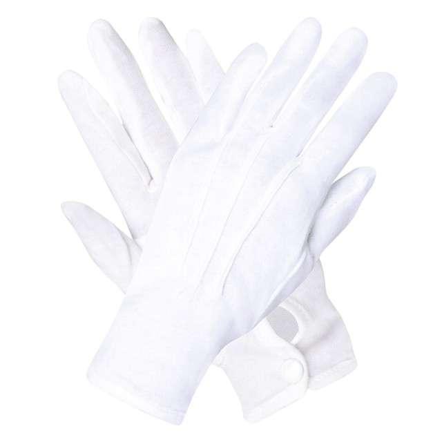 """Rękawiczki """"Eleganckie z guziczkiem"""", białe, Boland"""